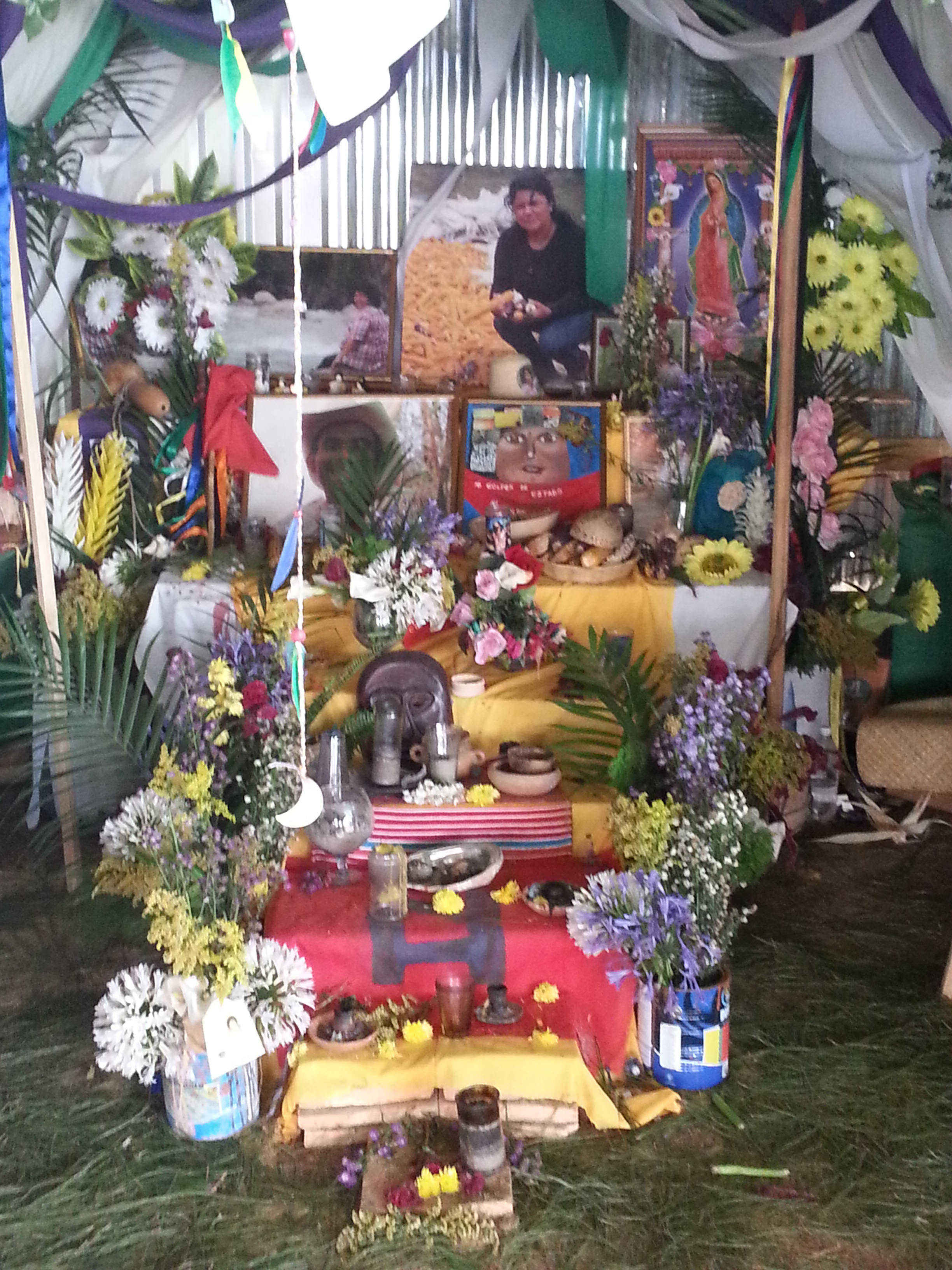 image is of the altar for Berta Caceres at Utopia in Honduras