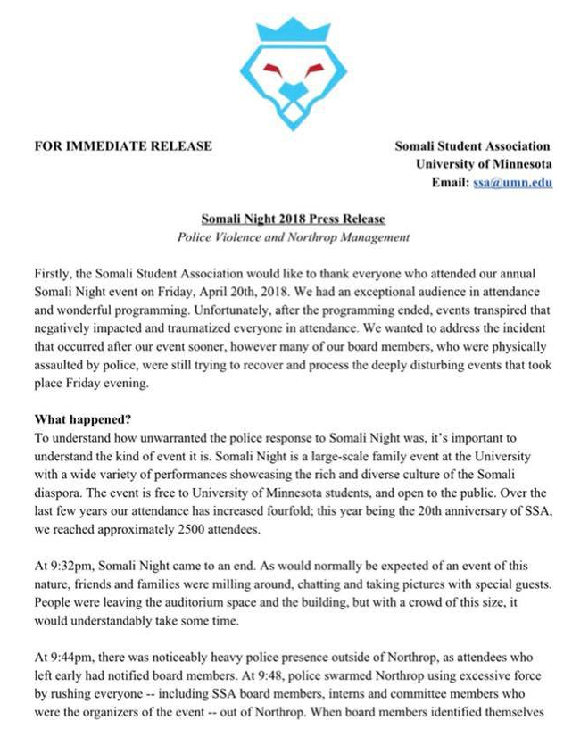 Somali Night Press Release Pg 1