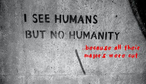 i see human but no humanity