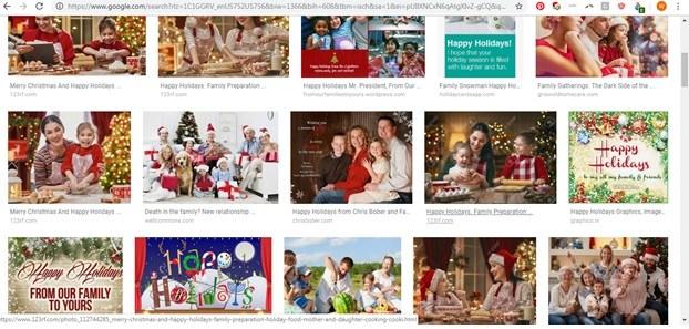 """Happy Holidays"" screen shot"